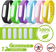 DJROLL 6 Pack - Mosquito Repellent Bracelet Band for Kids, Adults & Pets-100% Natural DEET-Free, Non Toxic, Waterproof Silicone Mosquito Repellent Wristbands for Outdoor & Indoor-720Hrs of Protection