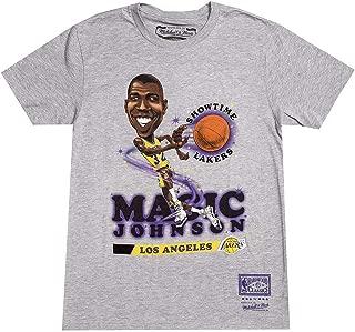 Earvin Magic Johnson Los Angeles Lakers Grey Salem Classic Caricature T-Shirt
