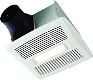 Broan-NuTone AE80L Invent Energy Star Qualified Single-Speed Ventilation Fan with LED Light, 80 CFM 0.8 Sones, White