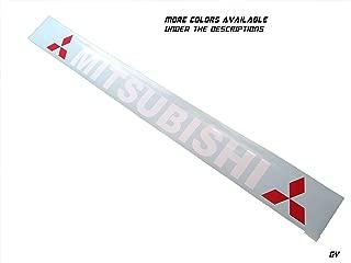 Gy Vinyl Arts,Mitsubishi,Windshield,Decal,Sticker,Compatible,Mitsubishi,Cars,Evo (4