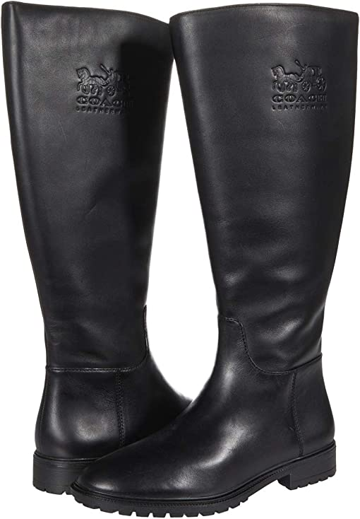 COACH Fynn Leather Boot II,Black