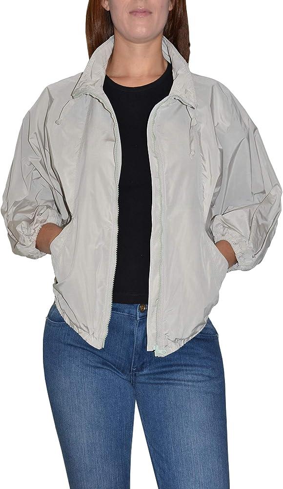 Krizia jeans giubbotto da donna chiusura con cerniera nascosta 100% poliammide