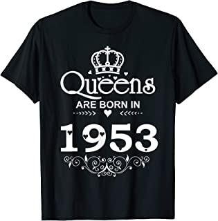 Funny Queens Are Born In 1953 T-shirt 66th Birthday Gift Tee