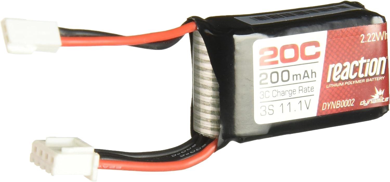 DYN DYNB0002 Dynamite 11.1V 200mAh 3S 20C LiPo  Micro Rally SCT Battery