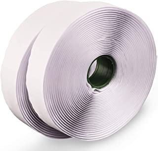 LLPT Hook and Loop Tape Color White 1 Inch x 23 Feet Each Roll Heavy Duty Adhesive Hook Loop Strip Mounting Tape for Indoo...