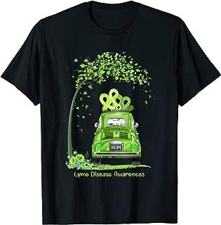HOPE Hippie Van Lime Green Ribbon Lyme Disease Awareness T-Shirt