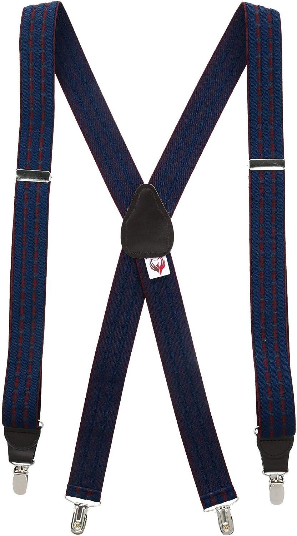 Ascentix Men's Dressy Cross Country Pattern Clip-End Suspenders