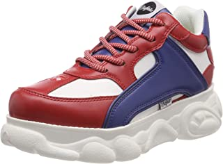 Buffalo Colby Womens Red/Blue/White Trainers
