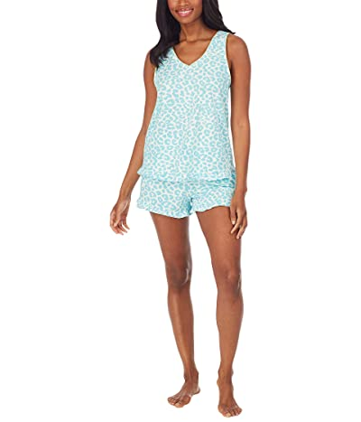 BedHead Pajamas Ruffle Tank Short PJ Set (Cotton Spandex)