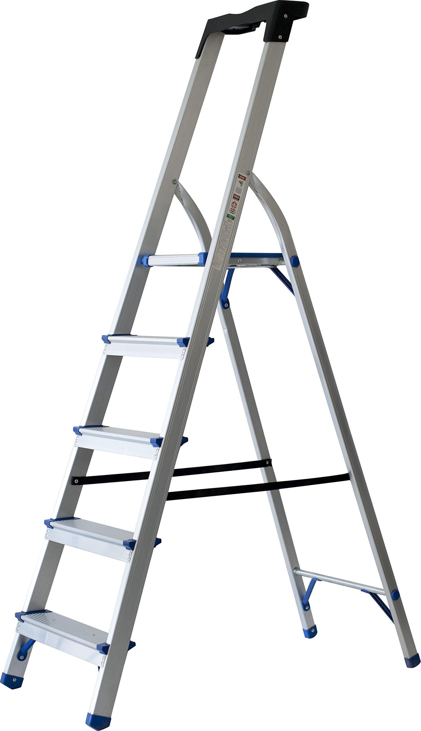 Sin Marca 8037346 - Escalera metálica de cinco peldaños: Amazon.es: Oficina y papelería