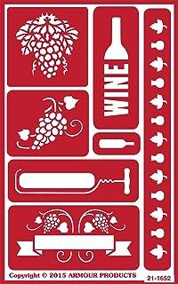 ستينسيل أوفر ان من ارمور برودكتس 21-1652 ، 5 بوصة في 8 بوصة، وقت النبيذ