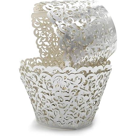 12 pcs Beautiful Metallic Shiny Green Lace damask Wedding Filigree Cupcake Liners Liner Baking Cup Cupcake Wrapper Wrappers Green Cupcake Wr
