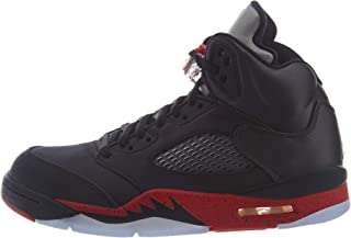 Retro 5 Basketball Shoes (11, Black/University Red (Bred))