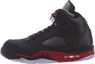 Jordan Retro 5 Basketball Shoes (10, Black/University Red (Bred))
