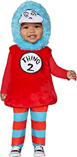 Dr. Seuss Thing 1 and 2 Belly Baby Costume | Officially Licensed