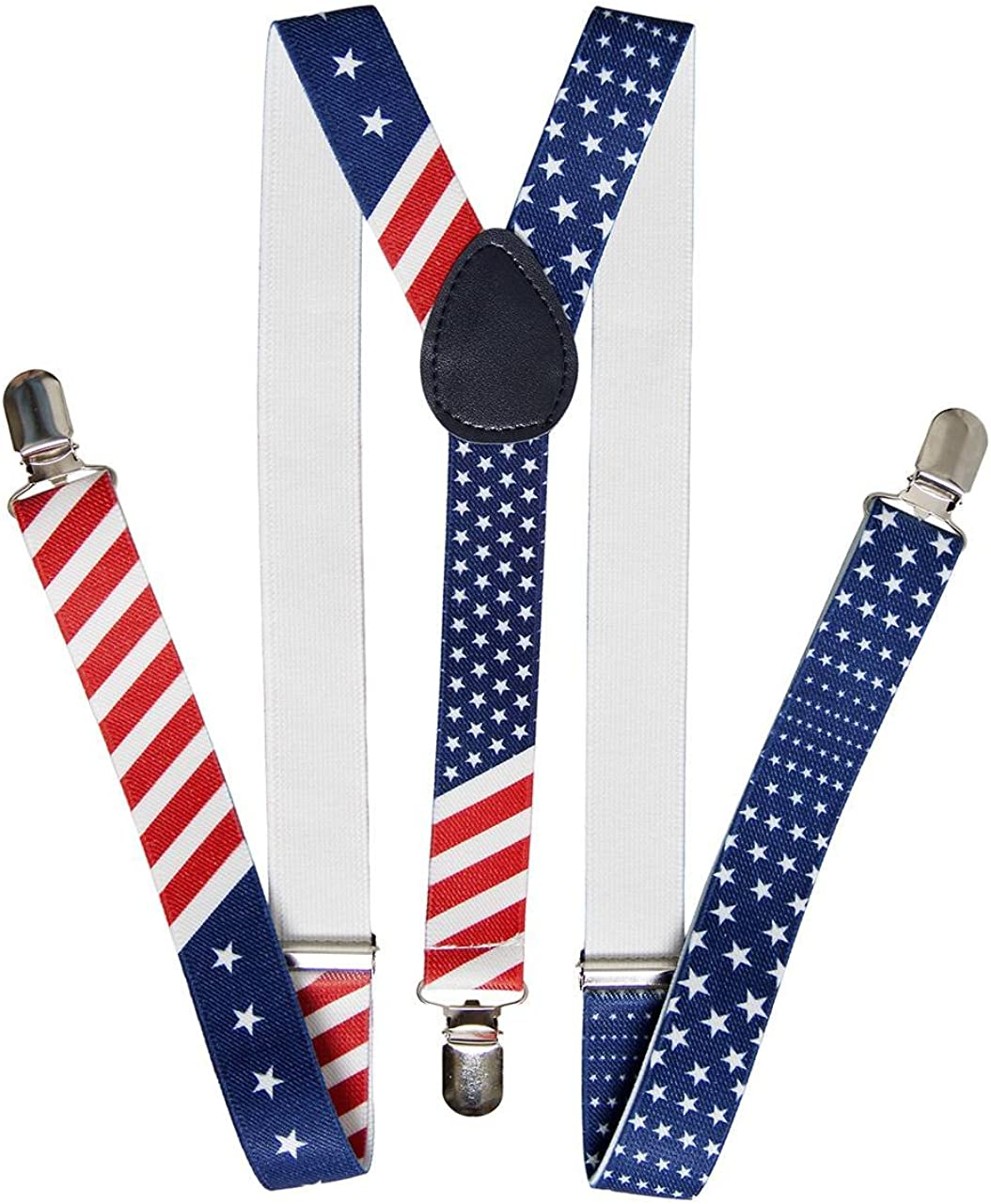 United States of America Flag Red White Blue Suspender