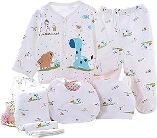 Kris&Ken Newborn Baby 5 Piece Layette Unisex Essentials Bundle(Blue)