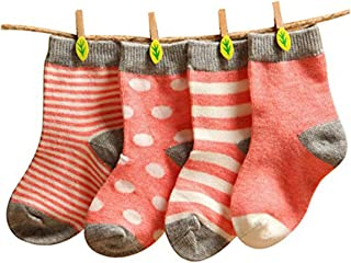 Calcetines unisex para bebé, 4 pares