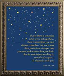 Winnie The Pooh Quote Gold Foil Print - Inspirational Quotes - Best Friend Birthday Gift - 8 x 10 Unframed