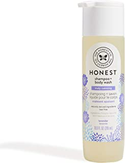 The Honest Company Truly Calming Lavender Shampoo + Body Wash | Tear Free Baby Shampoo + Body Wash | Naturally Derived Ingredients | Sulfate & Paraben Free Baby Wash | 10 Fl Oz (Pack of 1)