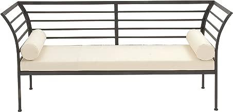 Deco 79 Metal Fabric Bench, 71 x 32