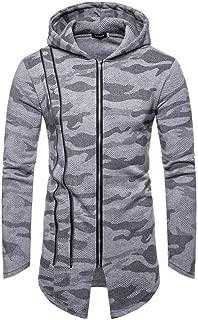 Hooded Camouflage Zipper Coat Men Jacket Cardigan Long Sleeve Outwear Blouse