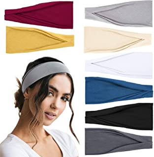 Tobeffect Headbands for Women Workout Yoga Running Sport Headband Thick Wide Sweat Band Non Slip Hair Accessories for Wome...