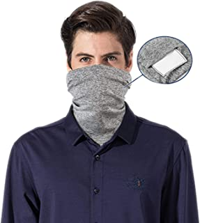 Face Cover Bandanas for Dust/Outdoors/Festivals/Sports, Multi-purpose Face Cover (Grey)