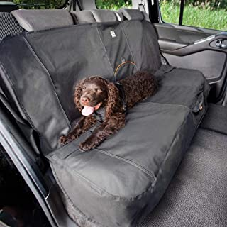Kurgo Dog Seat Cover   Car Bench Seat Covers for Pets   Dog Back Seat Cover Protector   Water Resistant for Dogs   Contains Seat Anchors   Scratch Proof   Cars   Wander Bench Seat Cover Style