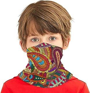 Verctor Adorno Bordado Estilo Paisley Abstracto multifunción Headwear Cuello Polaina Balaclava Cubierta Facial para niños