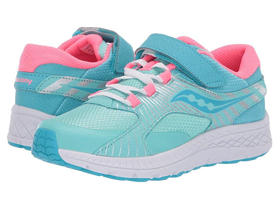 Saucony Kids S-Velocer A/C (Little Kid/Big Kid) (Turquoise) Girls Shoes