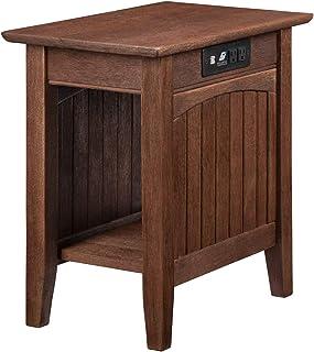 "Atlantic Furniture Nantucket Side Table, Chair (22"" x 14""), Burnt Amber"