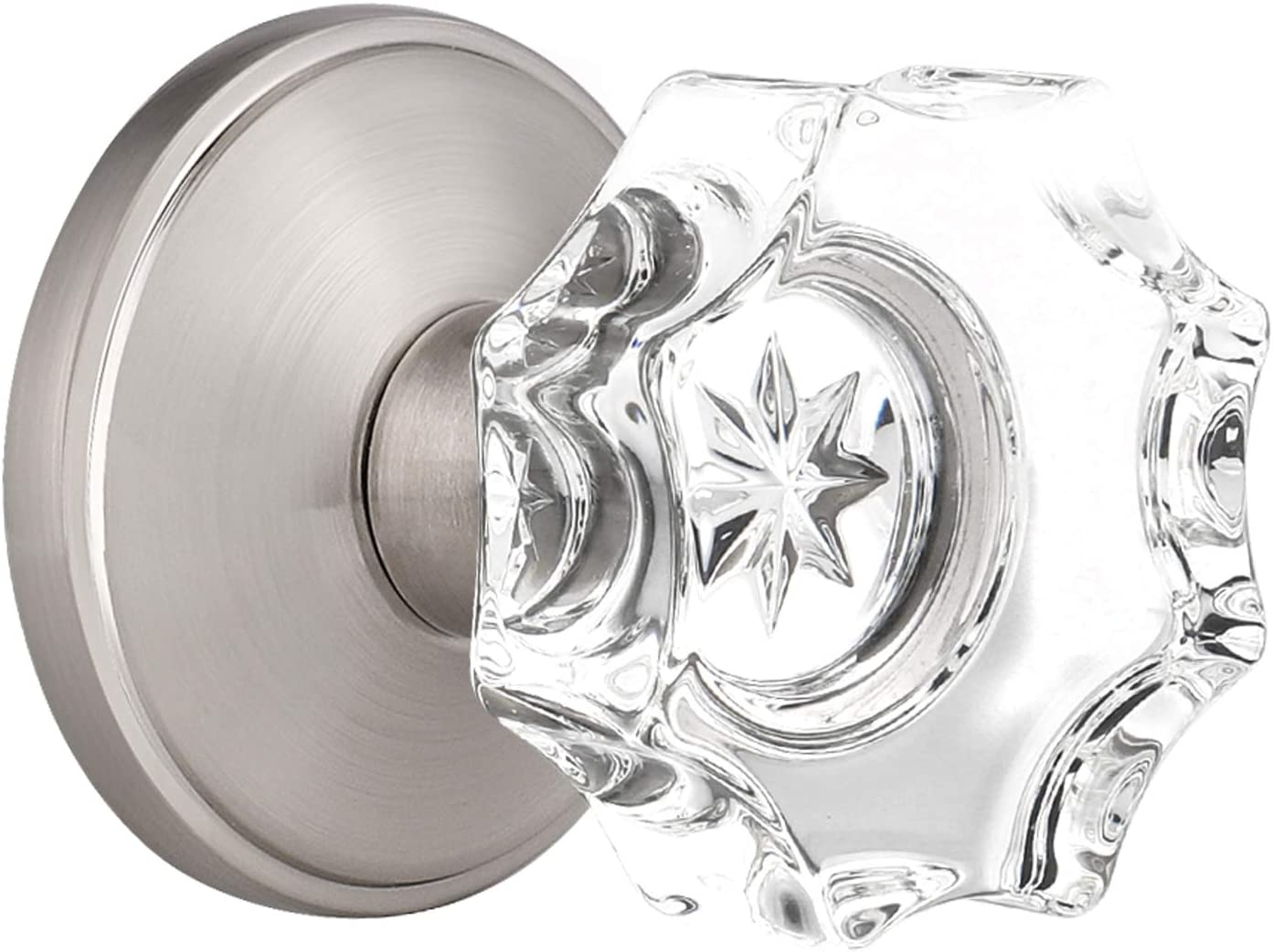 Pack Now on sale of 1 GOBEKOR Crystal Door Loc Passage Knob with Lock Glass Las Vegas Mall