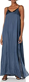Halston Heritage Women's Sleeveless Flowy Maxi Dress with Applique