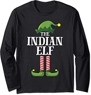 Indian Elf Matching Family Group Christmas Party Pajama Long Sleeve T-Shirt