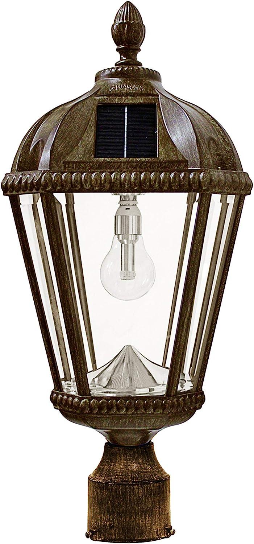 Gama Sonic GS-98B-F-WB Royal Bulb Lamp Outdoor Solar Light Fixture, 3
