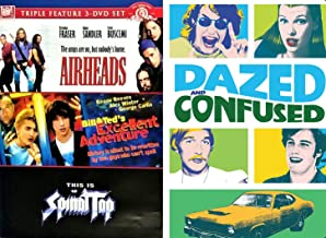Great Music Not A lot Of Brains:Airheads/ Bill And Ted's Excellent Adventure/ This Is Spinal Tap & Dazed And Confused (Pop Art Limited Edition Slip Cover) Quadruple Feature DVD Bundle
