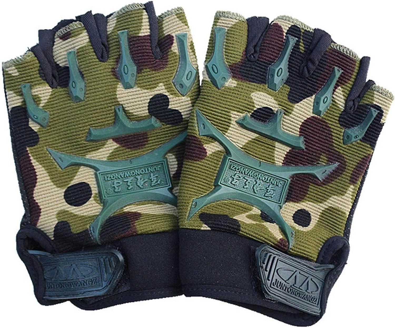 EseFGJK Childrenn Half Finger Short Gloves Mitt Mitten for Cycling Exercise Skate, Skateboard, Roller Skating - Sport Gloves for Mountain Climbing