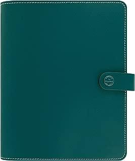 Filofax The Original A5 Patent Leather Organiser Dark Aqua with Diary 2018