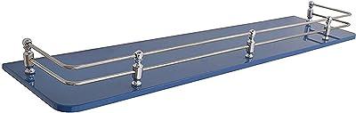Klaxon Front Glass Shelf - 12 * 6 Inches - Blue