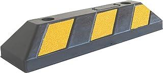 SNS SAFETY LTD Gummi Radstopp Parkplatzbegrenzung für Parkplätze und Garagen, Farbe Schwarz Gelb, Abmessungen 55x15x10 cm (1er Pack)