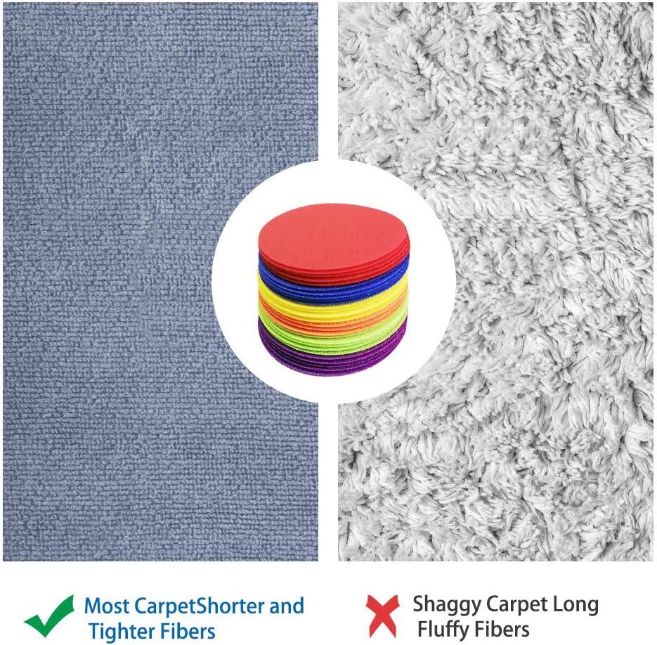 54pcs 5 inch Floor Dots for Classroom Kids Preschool and Kindergarten Use 6 Color Carpet Dots Spot Markers Circles Sitting Spot