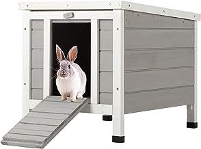 CO-Z Topnotch Weatherproof Indoor Outdoor Wooden Bunny Rabbit Hutch Cat Shelter Guinea Pig House