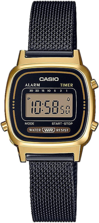 Reloj Digital de Cuarzo para Mujer Casio con Correa de Acero Inoxidable Macizo.
