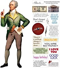 Alexander Hamilton Quotable Notable - Die Cut Silhouette Greeting Card and Sticker Sheet