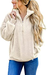 MEROKEETY آستین بلند کنتراست رنگ زیپ رنگ شرپا شمع پیراهن کش ورزش پیراهن کش ورزش با جیب