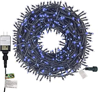 Twinkle Star 200 LED 66ft Christmas Tree String Lights Plug in, 8 Modes Green Wire Clear Bulbs Mini Lights, Waterproof Fairy String Lights Xmas Wedding Party Holiday Decoration, Blue
