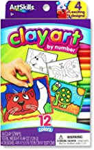 ArtSkills Clay Art by Number, Arts and Crafts Supplies, Strips of Clay, with Included Designs, 4 Count