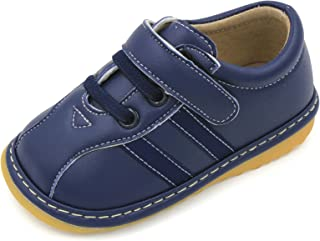 Toddler Shoes   Squeaky Brown, Black or Navy Blue Sneakers Toddler Boy Shoes   Premium Quality (Removable Squeakers)