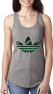 Addicted Stripes Pot 4/20 Logo Parody | Womens Weed Jersey Racerback Tank Top